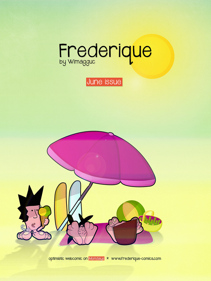 June 2013 Cover from Frederique, the optimistic geek comic